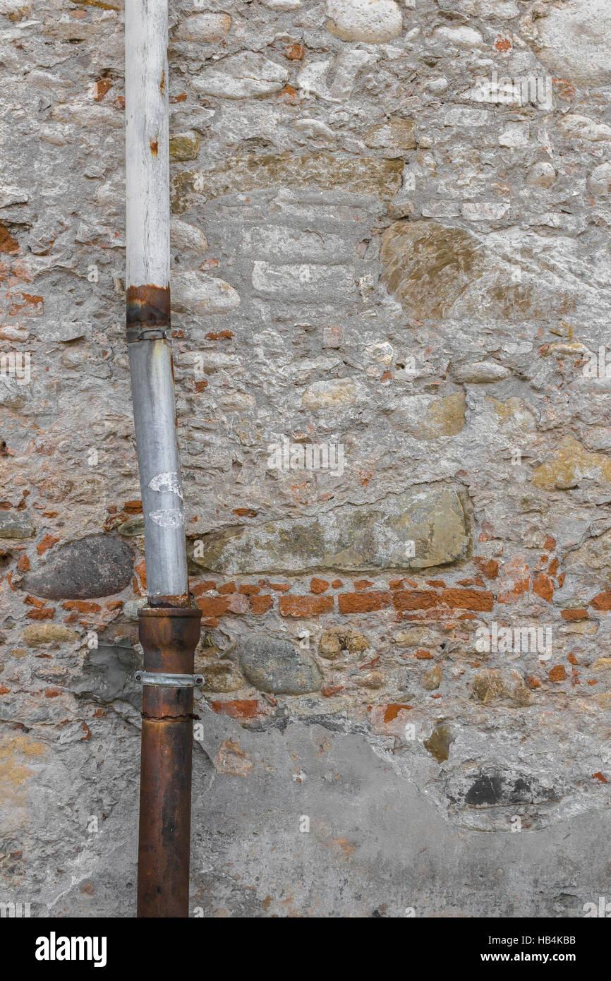 Old drainpipe - Stock Image