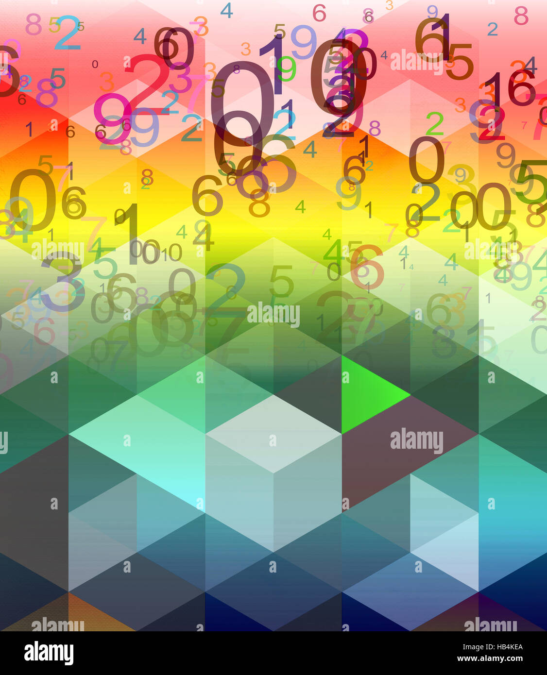 abstract numbers background Stock Photo