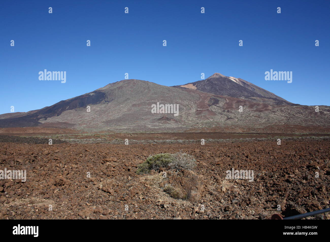 Tenerife, volcano Teide with lava field - Stock Image