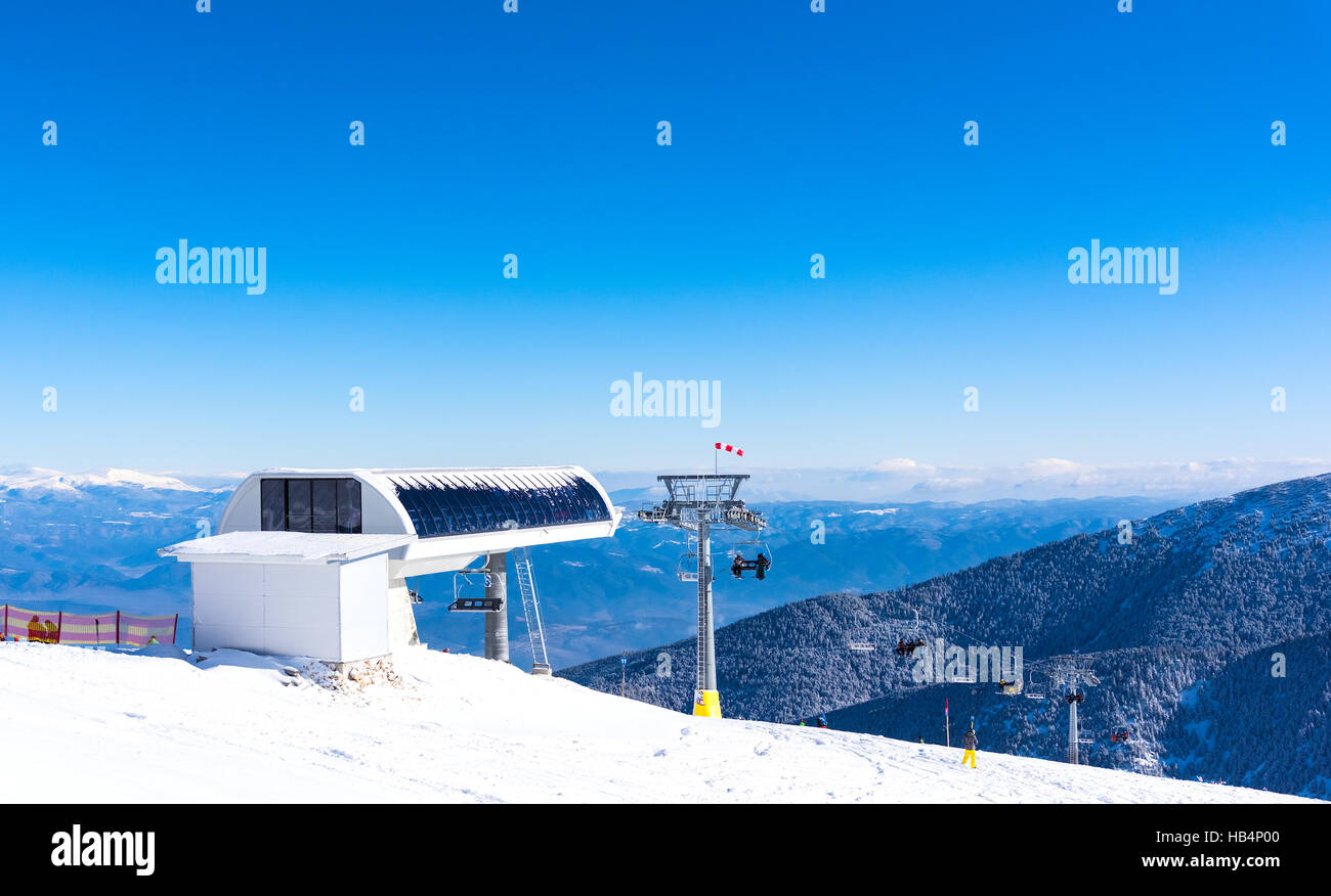 chair lift for skiing - Stock Image