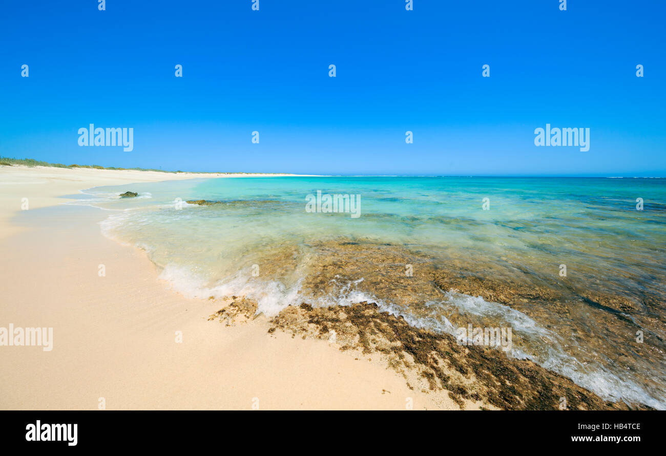 Turquoise Bay in Cape Range National Park, Western Australia. - Stock Image