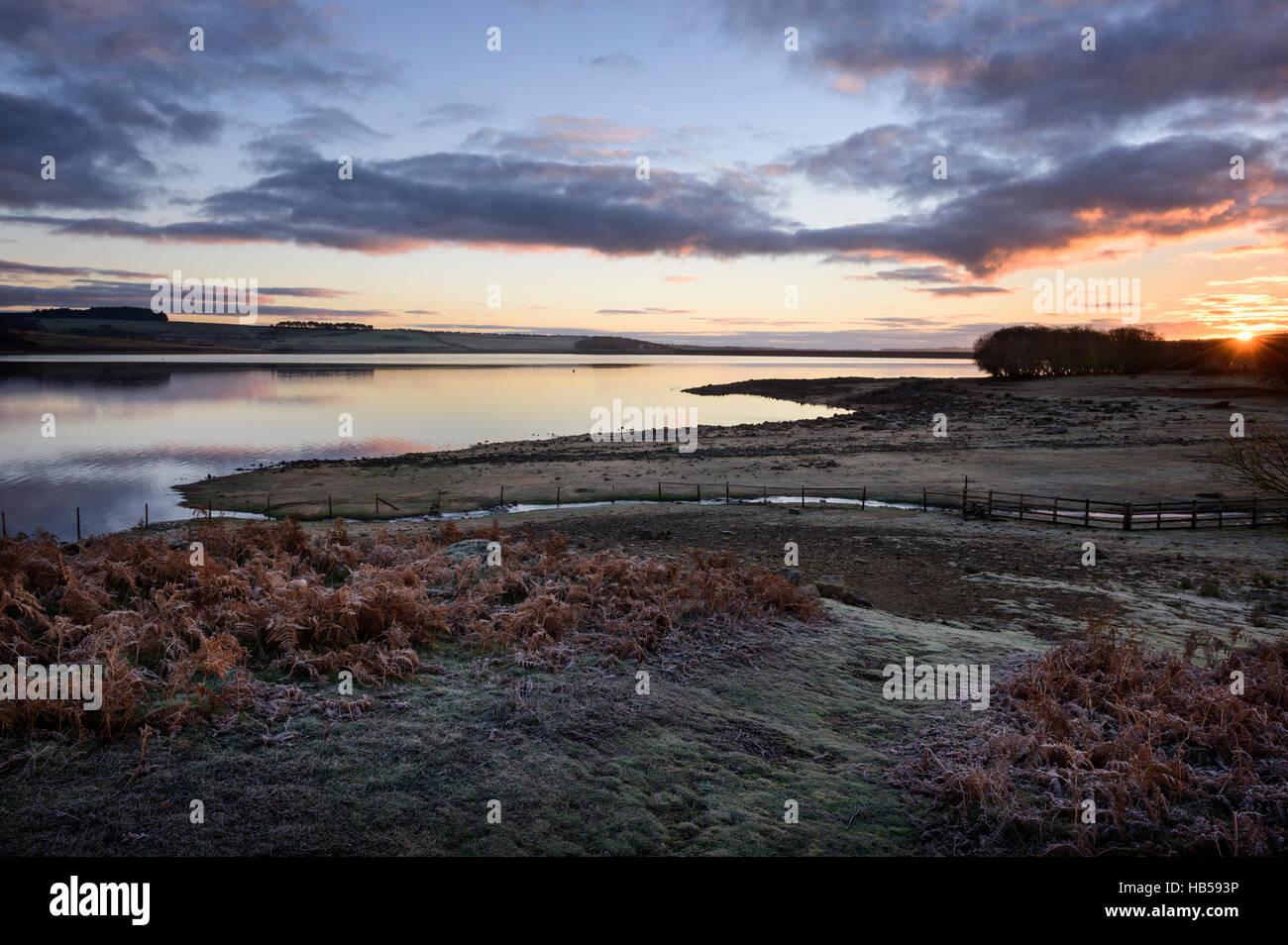 Derwent Reservoir at Sunrise - Stock Image