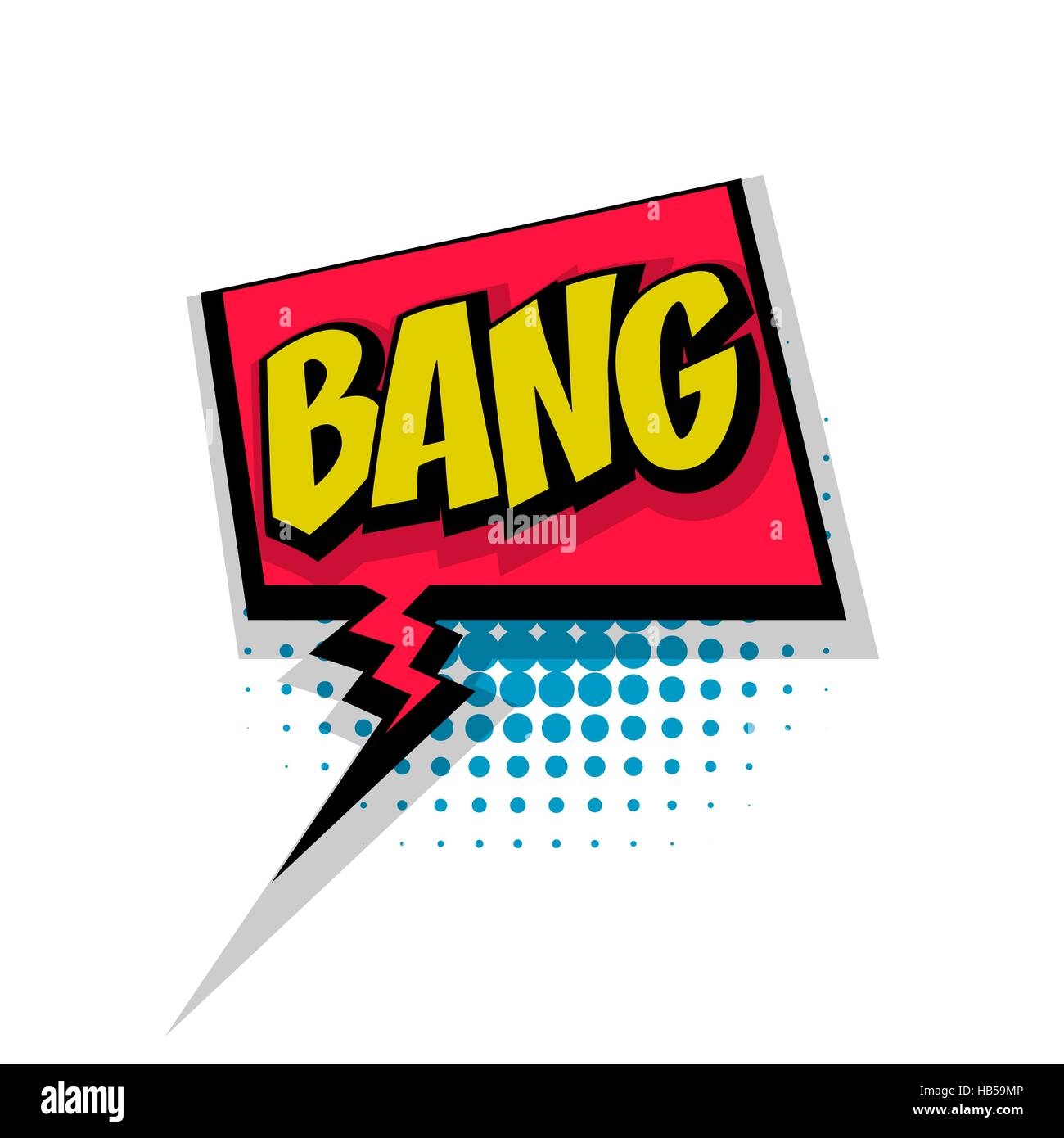lettering bang comic text sound effects pop art style vector sound