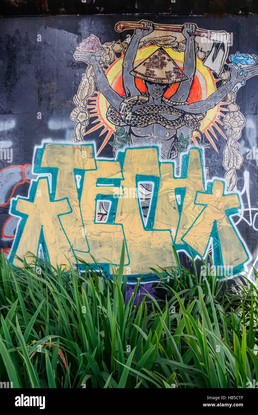 Graffiti a poor neighbourhood in yogyakarta graffiti in yogyakarta often has a political message java indonesia