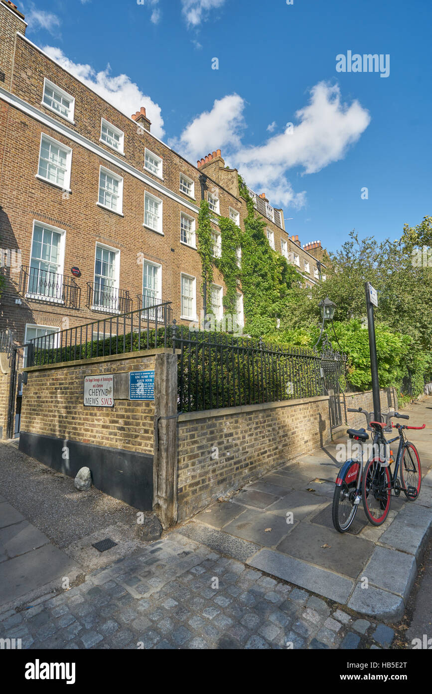 Cheyne walk, Chelsea embankment - Stock Image
