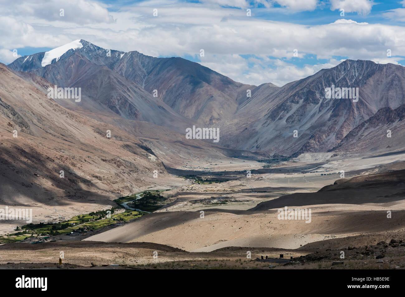 Human settlements in Ladakh, India, Asia - Stock Image