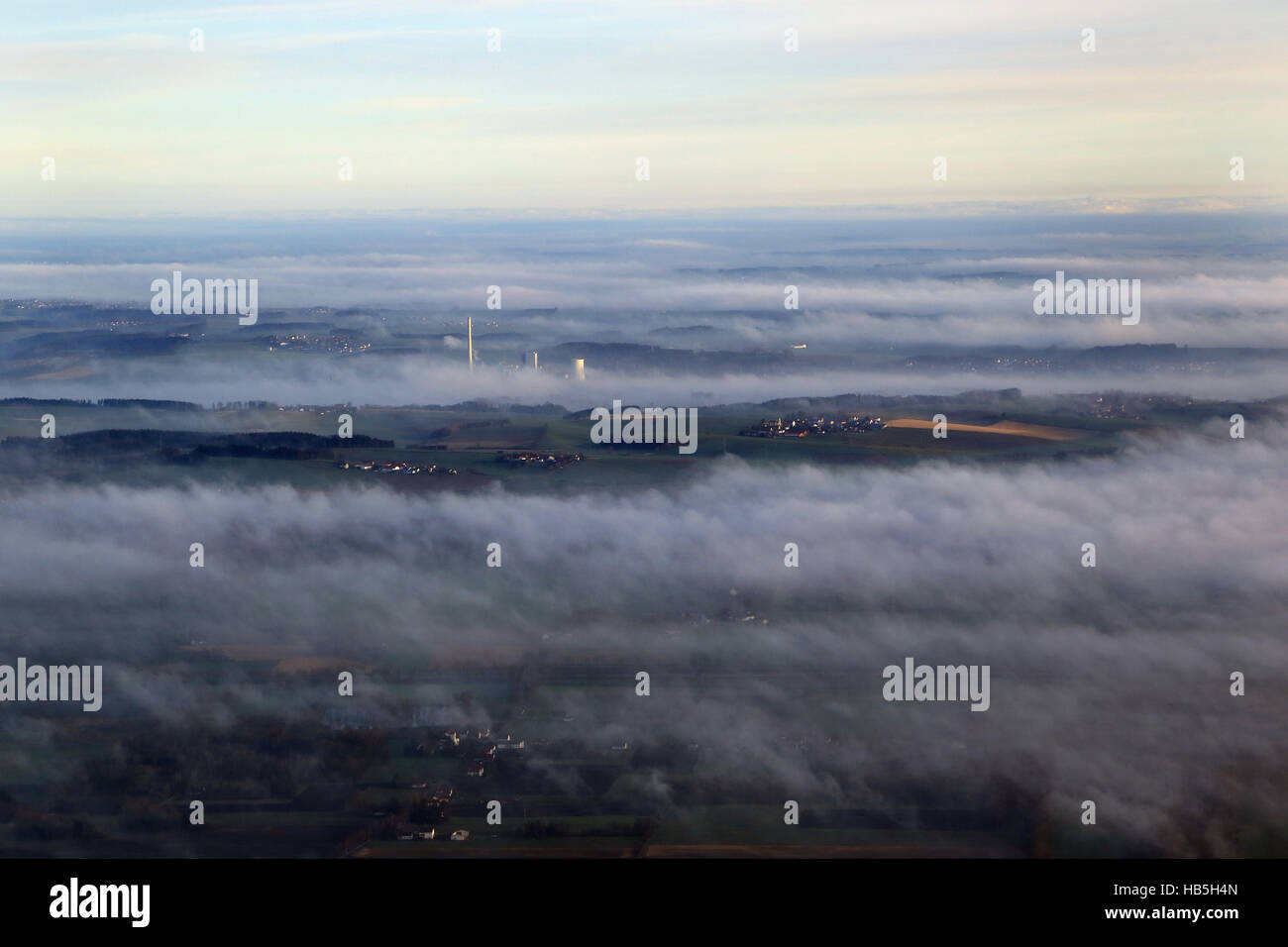 Luftbild Kohlekraftwerk Zolling in Bayern - Stock Image