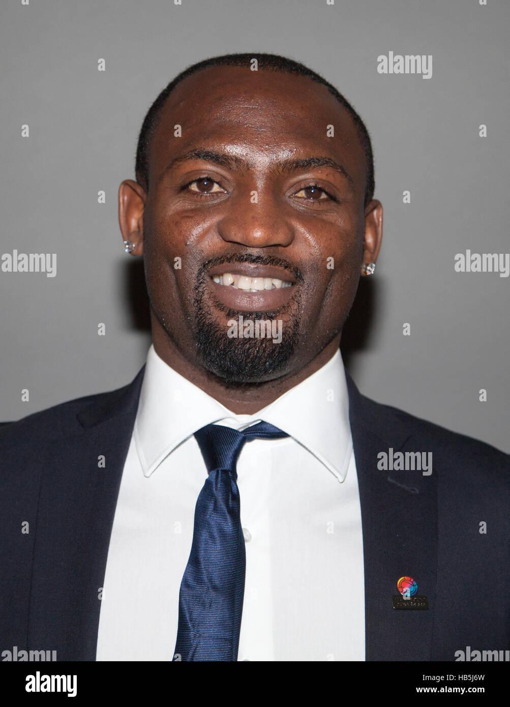 JOHN OWOERI Nigerian professional football player in Sweden s BK Häcken 2016 and winner as the seasons - Stock Image