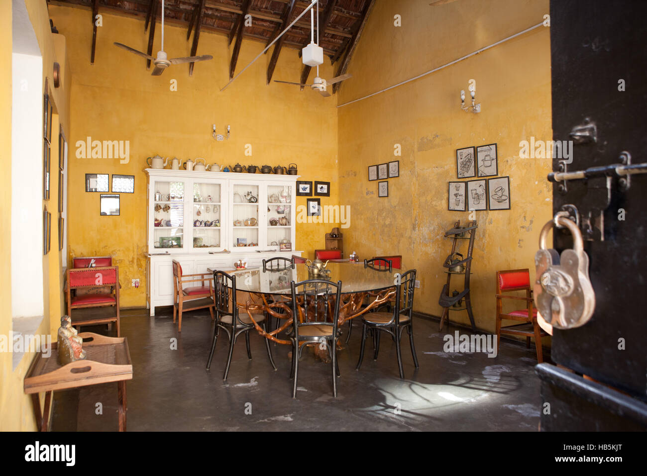 Teapot Cafe in Fort Kochi (Cochin),Kerala, India - Stock Image
