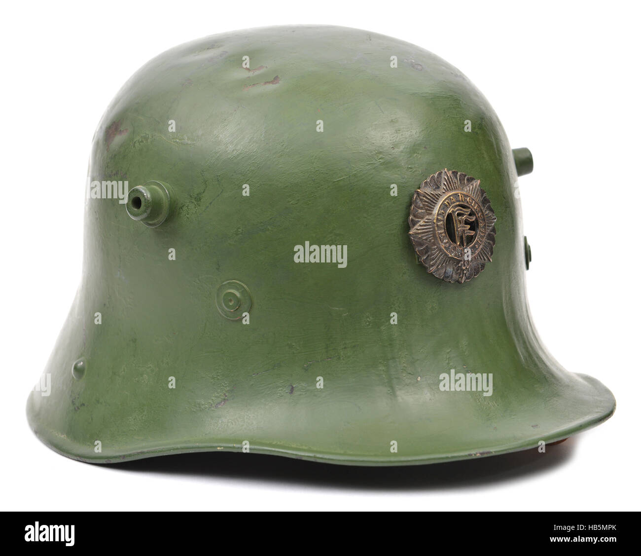 First World War late pattern German Army soldier's helmet - Stock Image