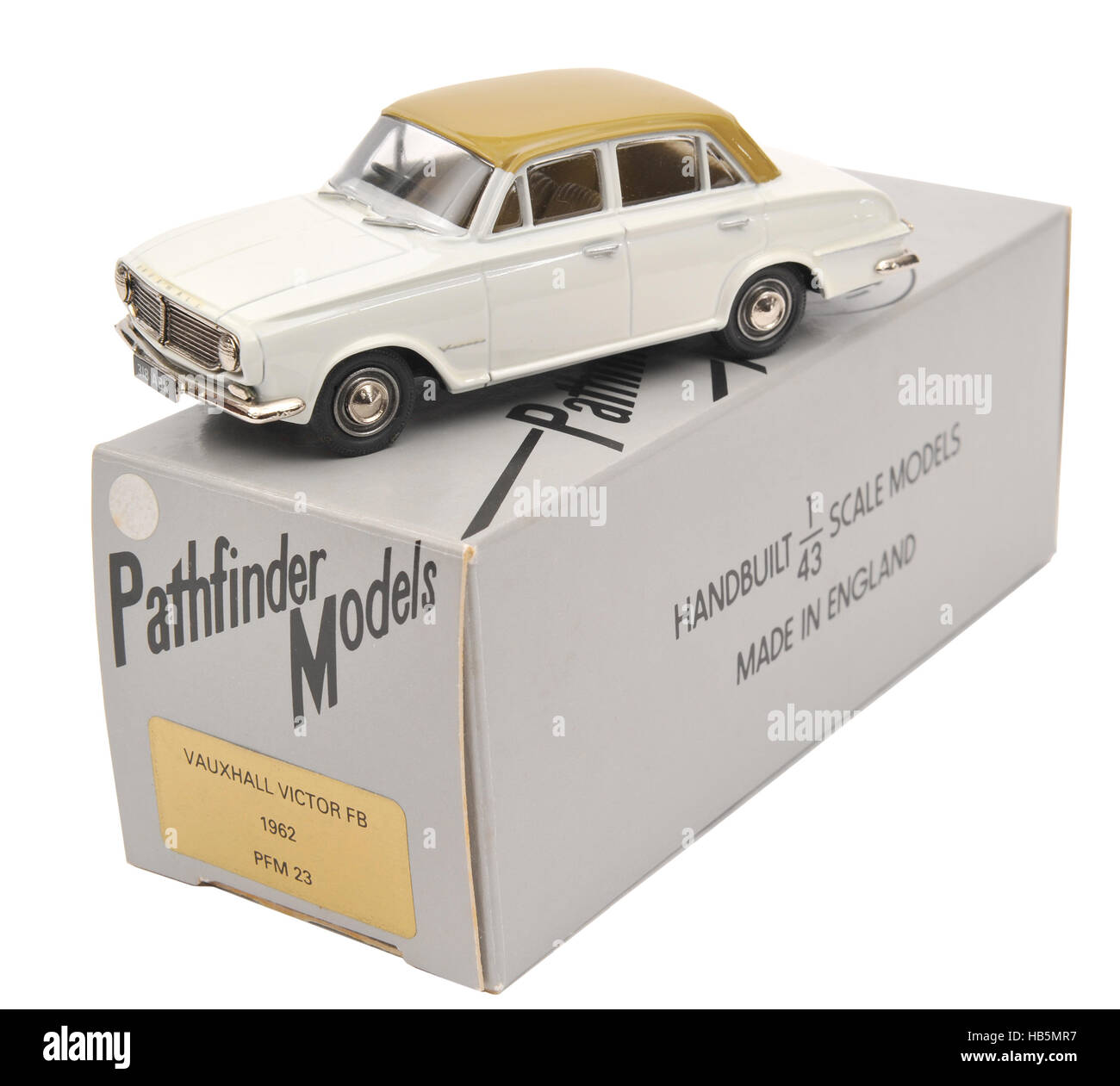 Diecast metal scale model of a 1962 Vauxhall Victor FB motor car Stock Photo