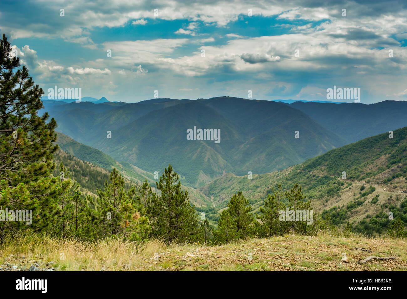 Mountain horizons - Stock Image