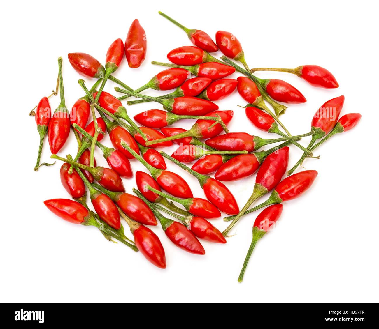 Heap of Ripe Red Peppers Piri-Piri - Stock Image