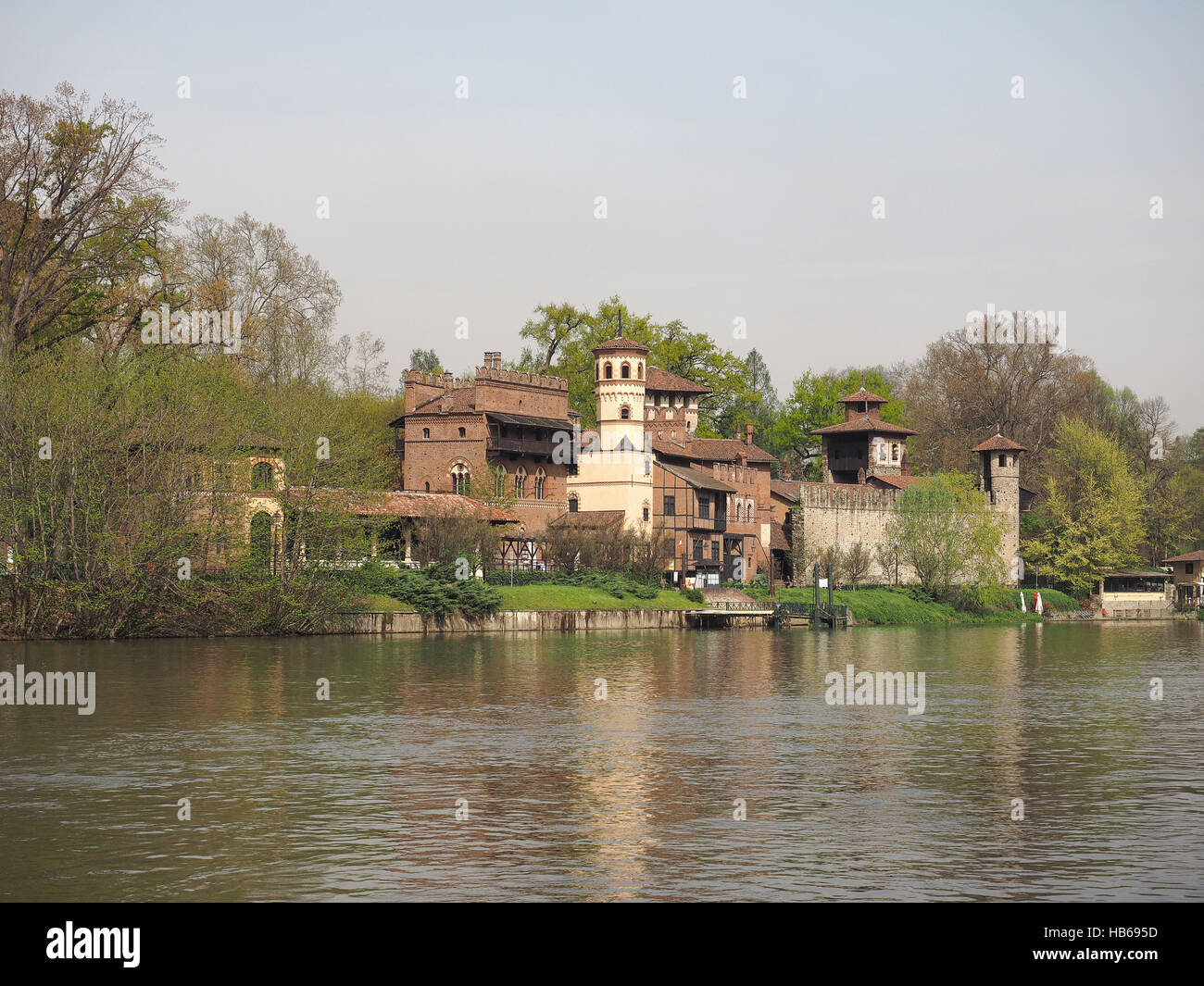 Medieval Castle in Turin Stock Photo