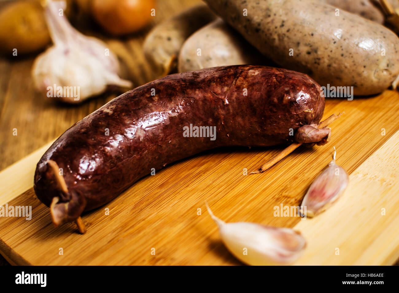 Sausage Home, a recipe in Ukrainian. Blood sausage and blood with liver