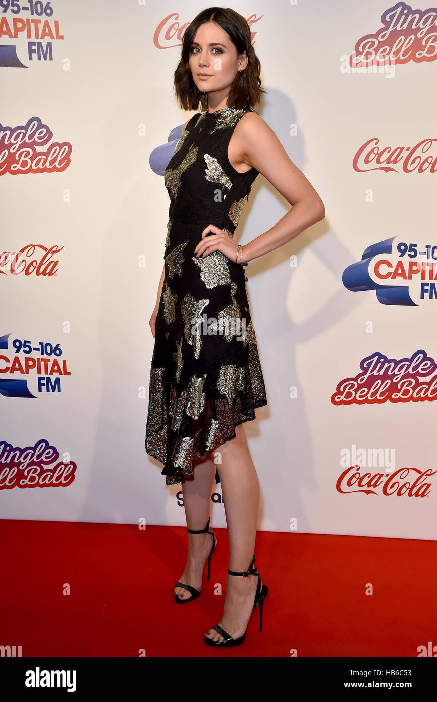 Lilah Parsons during Capital's Jingle Bell Ball with Coca-Cola at London's O2 arena. PRESS ASSOCIATION Photo. - Stock Image
