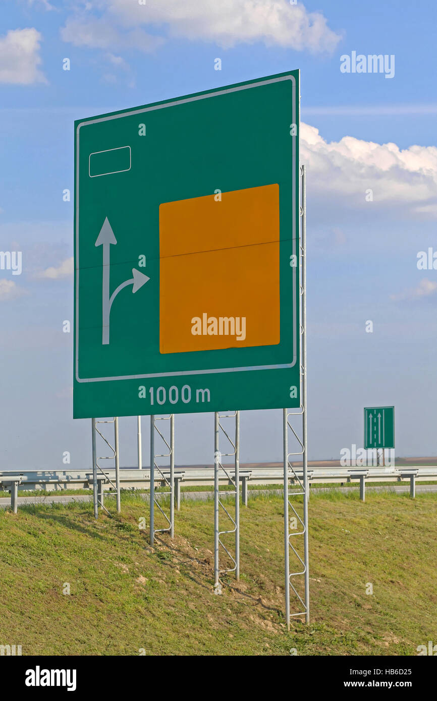 Advance Direction Sign - Stock Image