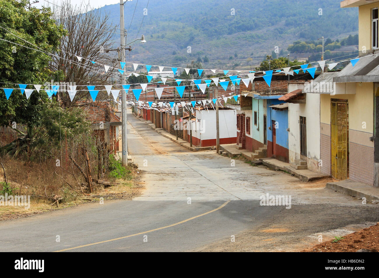 A street of Tzintzuntzan, Michoacan, Mexico - Stock Image
