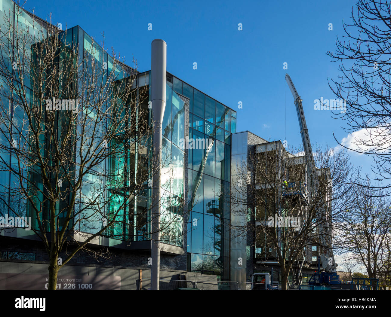 The 'Bright' building under construction 2016.  Manchester Science Park, Pencroft Way, Manchester, UK. - Stock Image