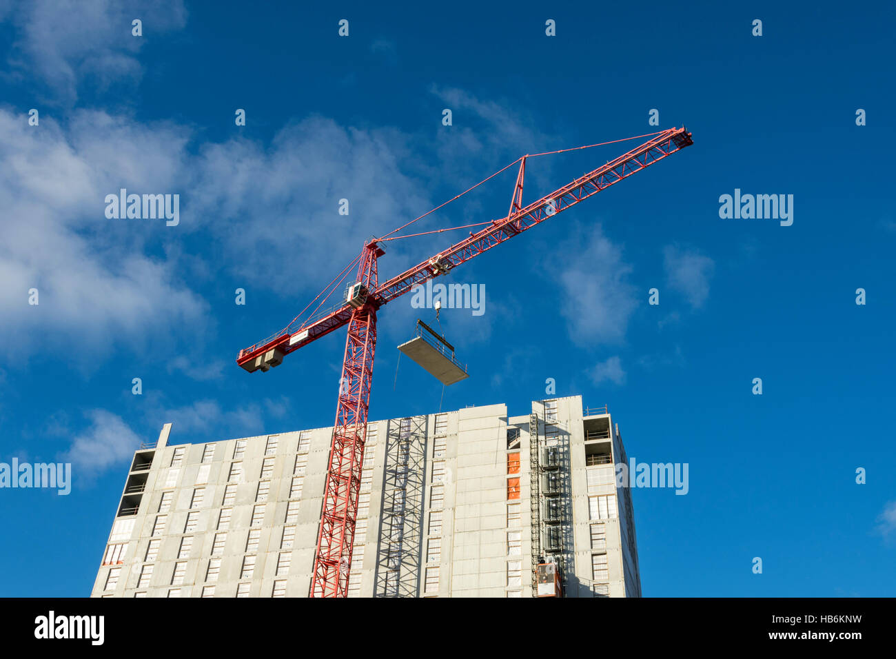 The Crowne Plaza and Staybridge Suites hotel building under construction, Manchester University Campus, Manchester, - Stock Image