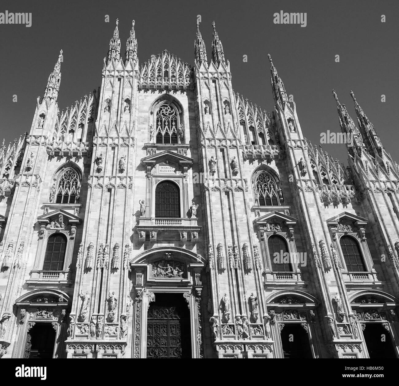 Duomo di Milano Cathedral in Milan - Stock Image