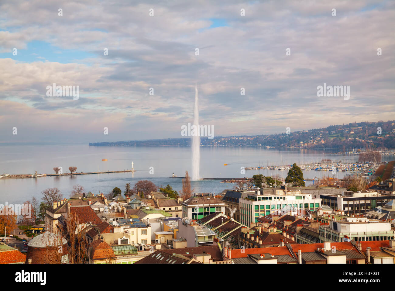 Aerial view of Geneva, Switzerland - Stock Image