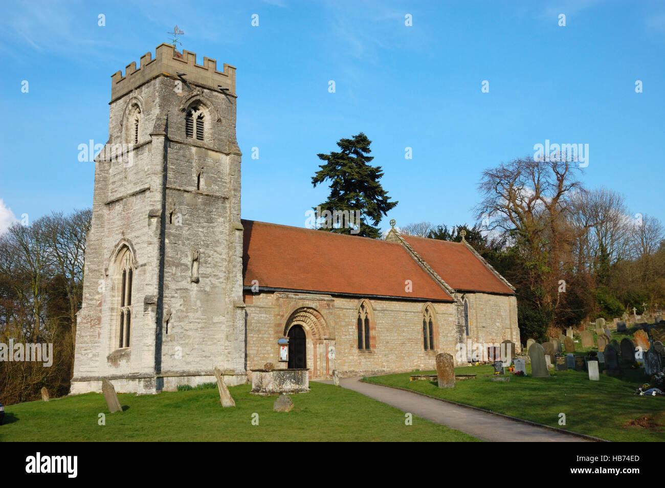 St Nicholas Church, Beaudesert, Henley-in-Arden Stock Photo