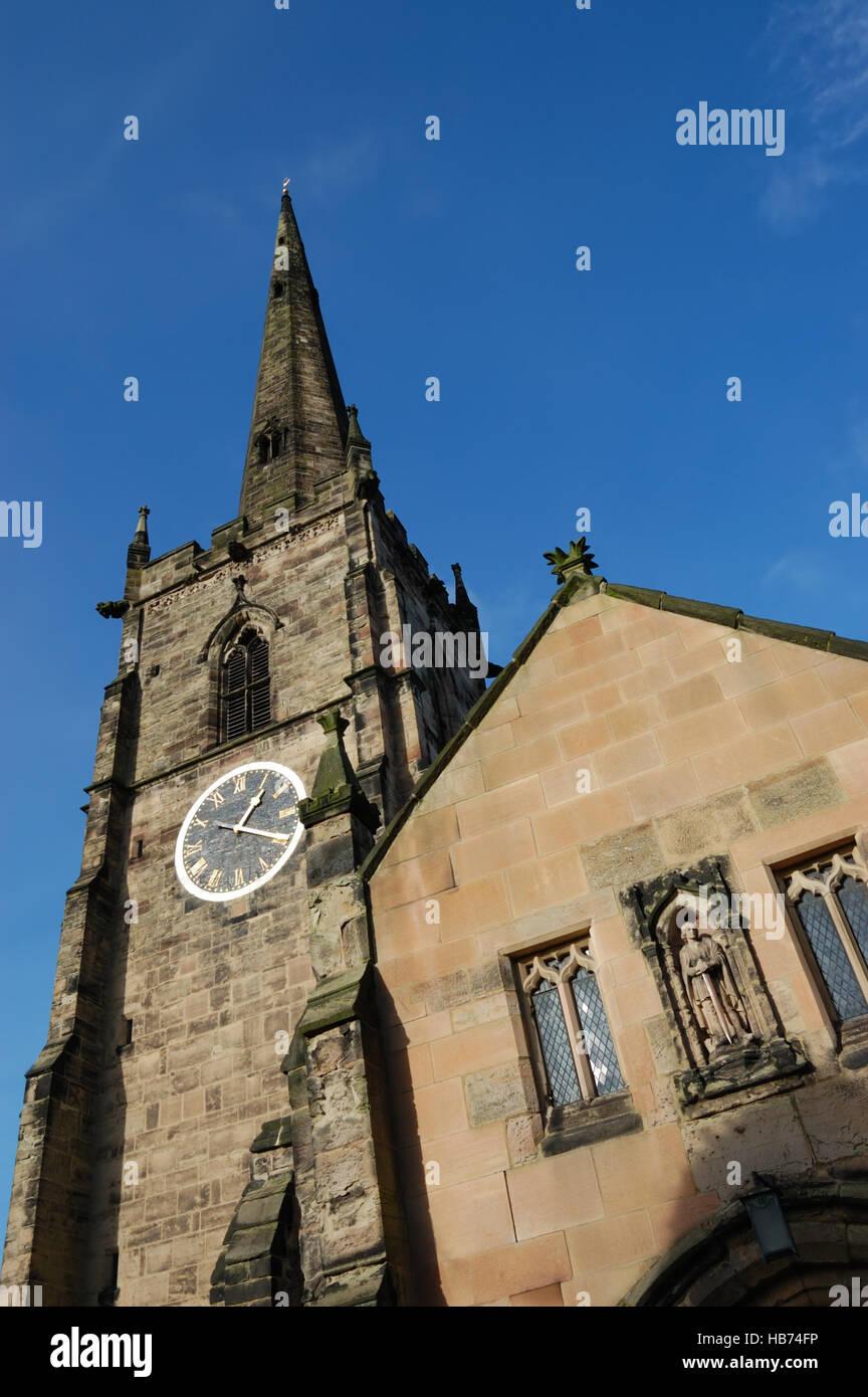 St Wystan's Church, Repton Stock Photo