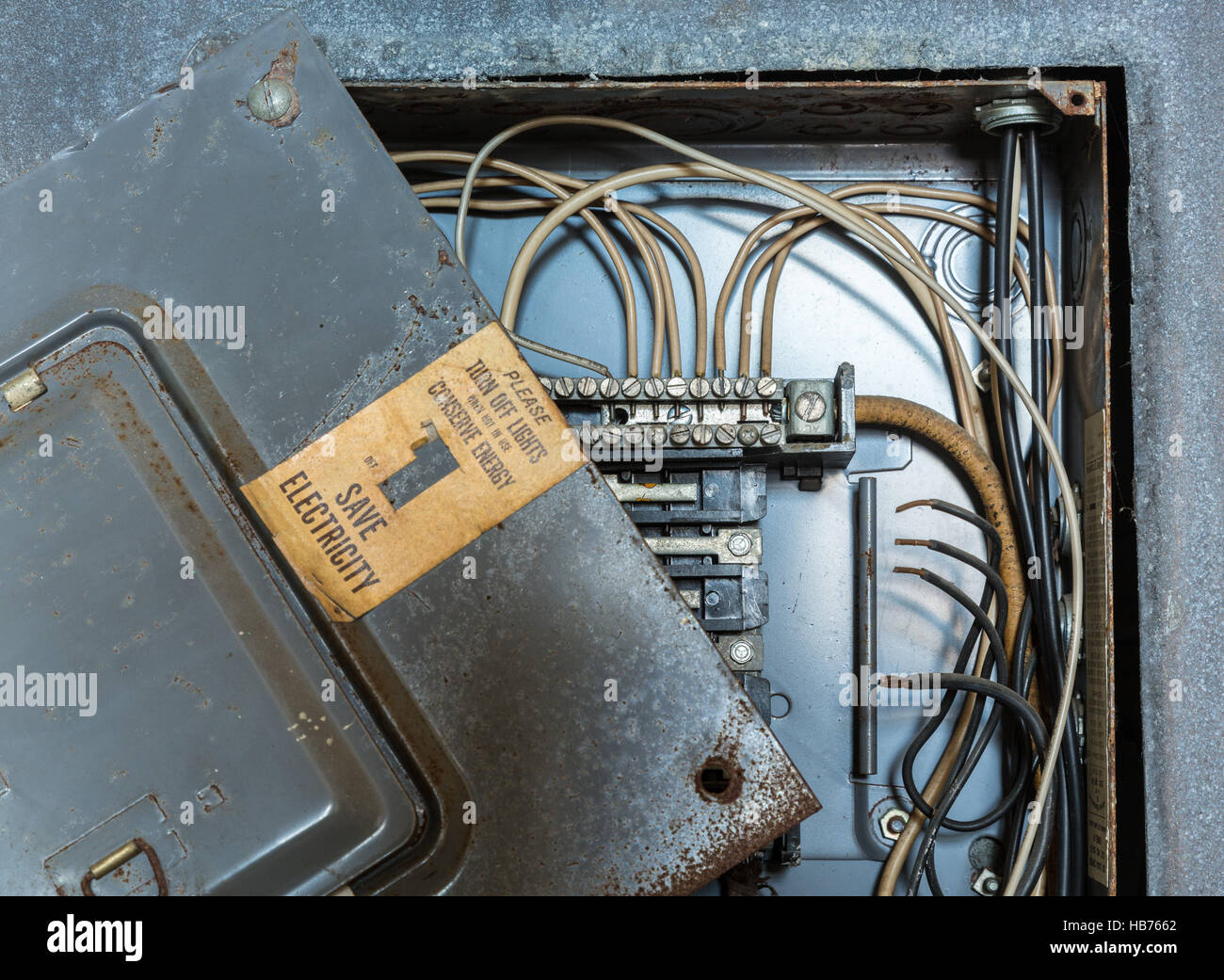 Old electrical distribution or wiring box Stock Photo: 127392330 - Alamy
