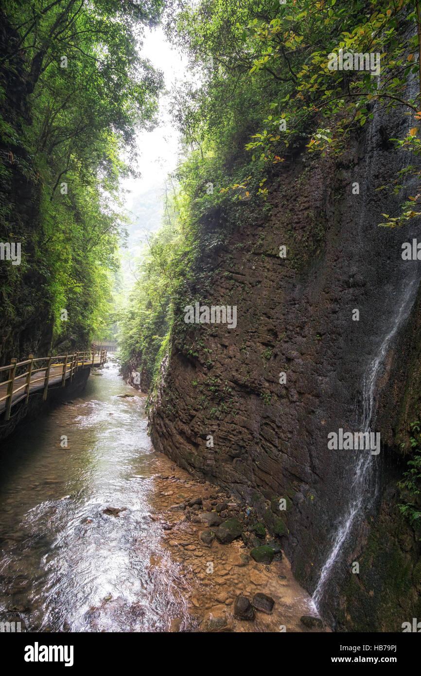 zhangjiajie grand canyon creek view Stock Photo