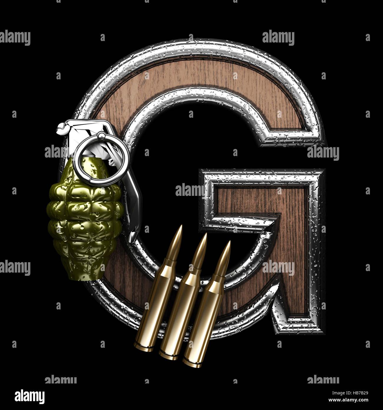 g military letter. 3D illustration Stock Photo: 127396145 - Alamy