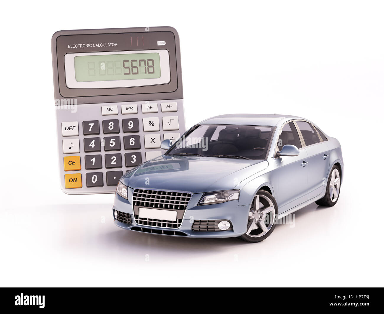 Car and calculator concept - Stock Image