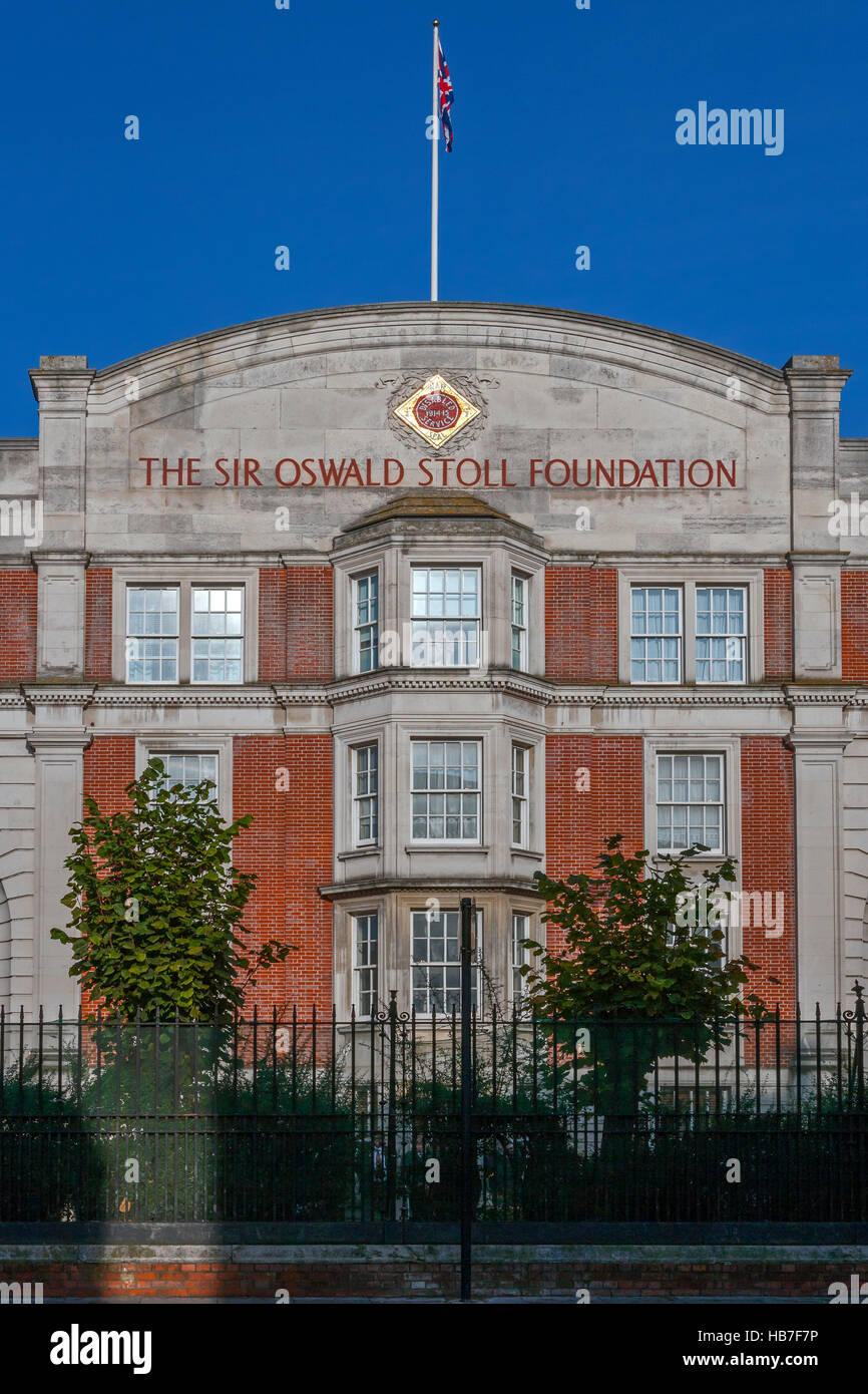 Sir Oswald Stoll Foundation, Fulham Road, London - Stock Image