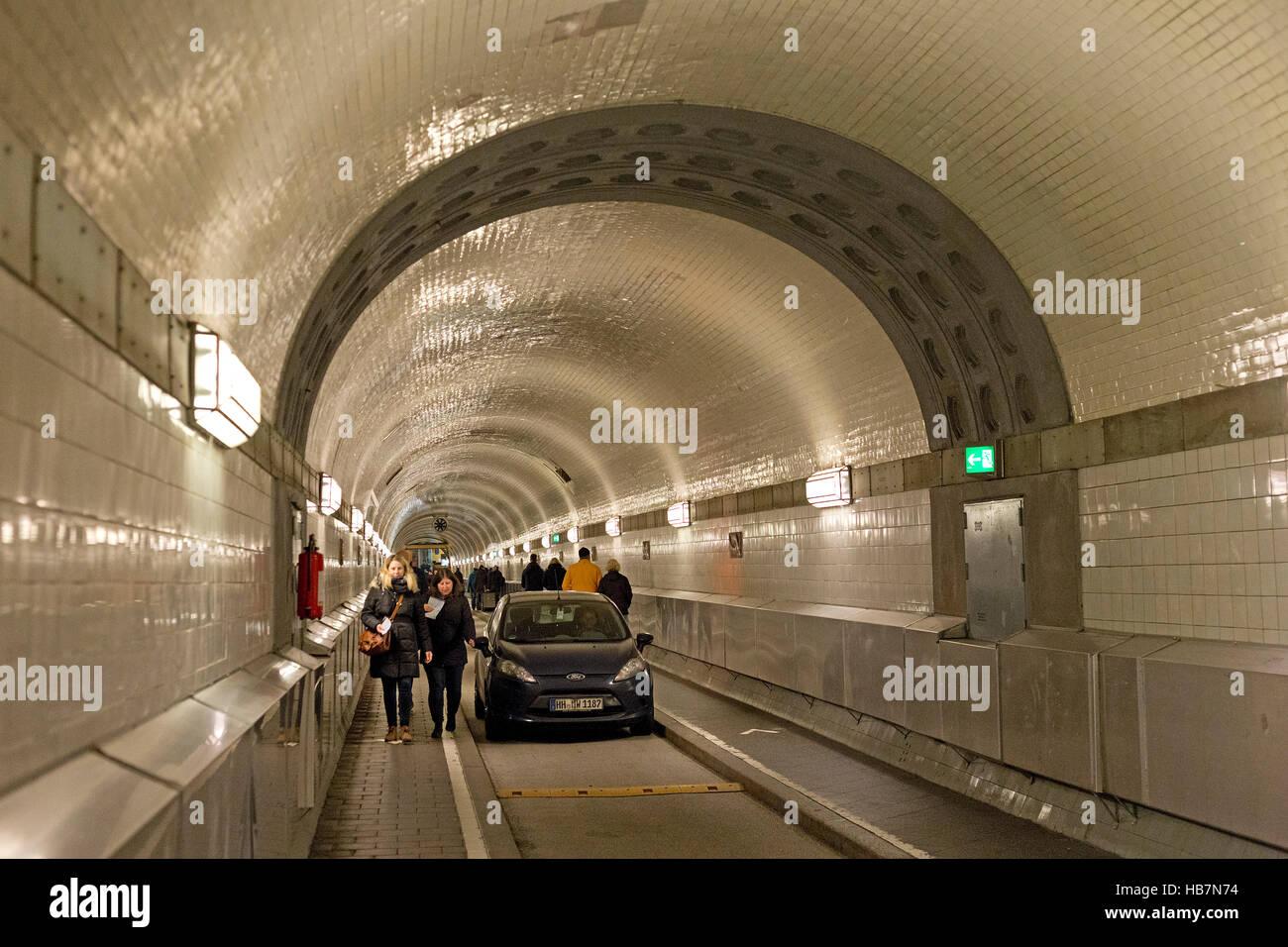 old Elbe Tunnel, Hamburg, Germany - Stock Image