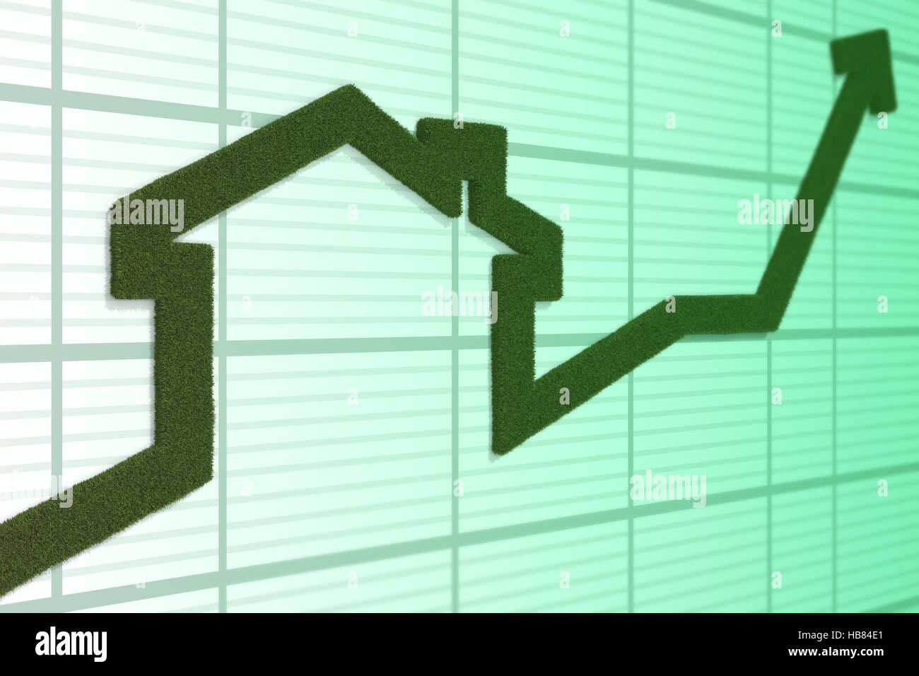 rising arrow - Stock Image