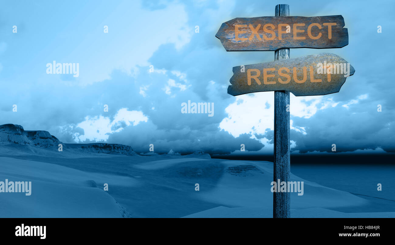 expect-result - Stock Image