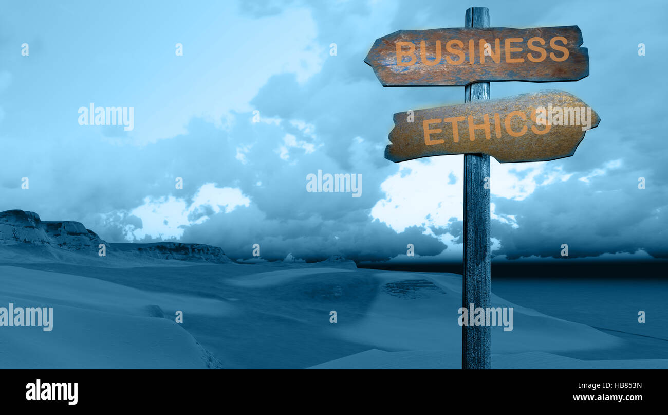 business - ethics - Stock Image
