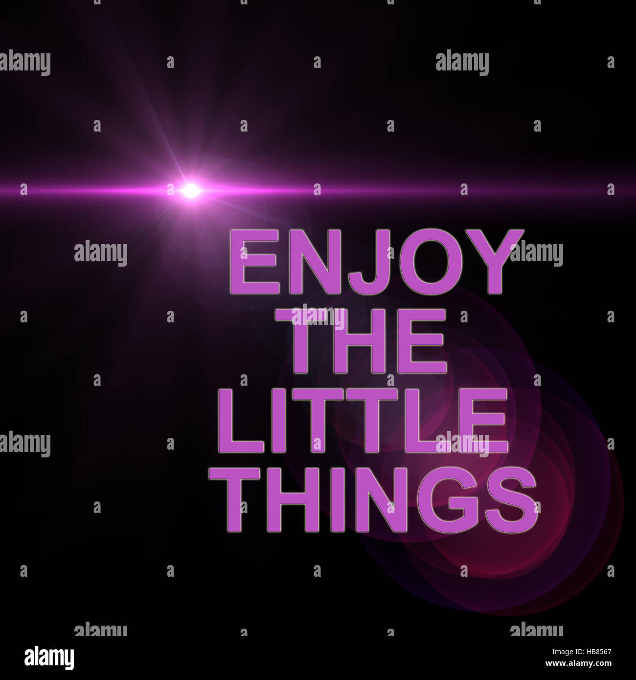 enjoy the little things - Stock Image