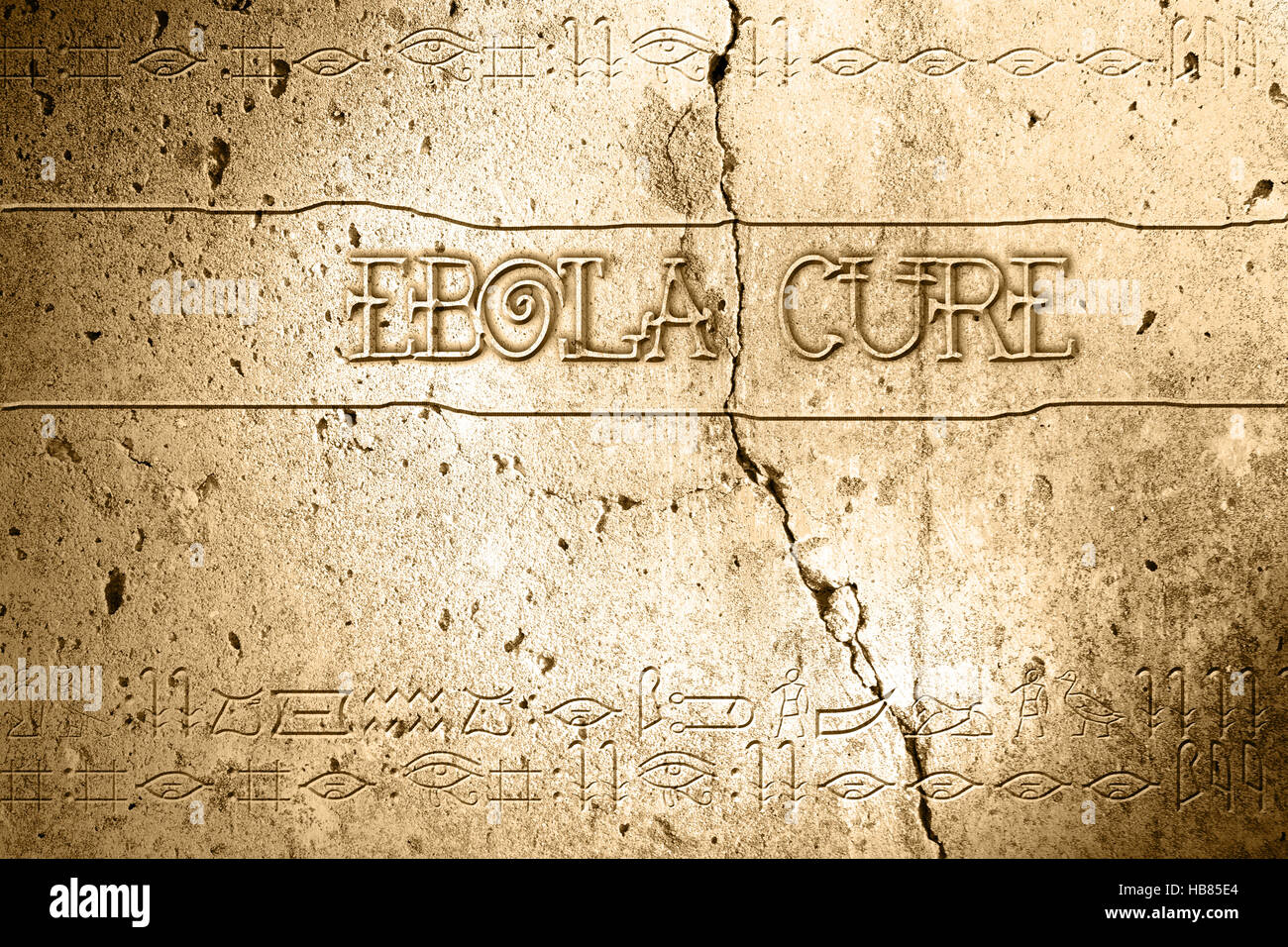 ebola cure - Stock Image