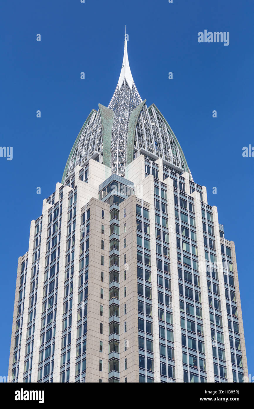 The RSA Battle House Tower, the tallest building in the state, in downtown Mobile, Alabama. - Stock Image
