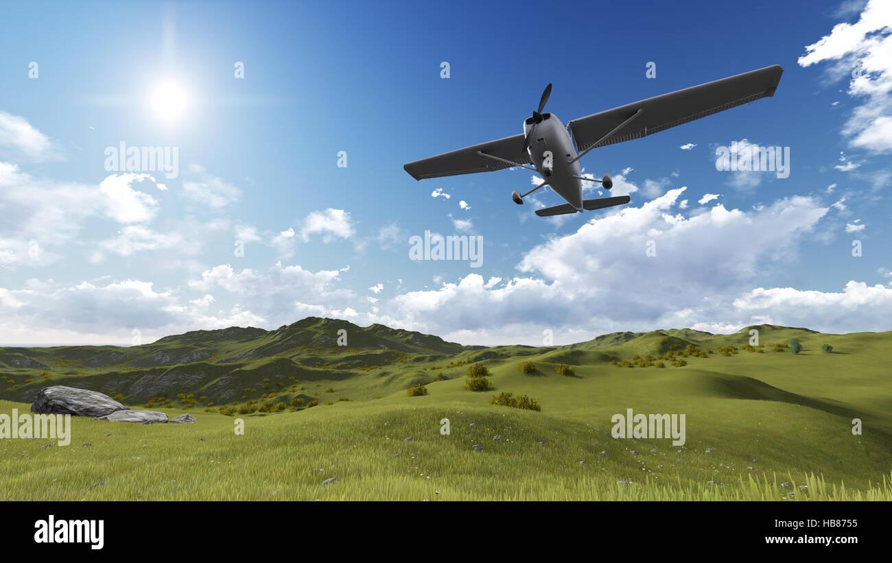 plane flying - Stock Image