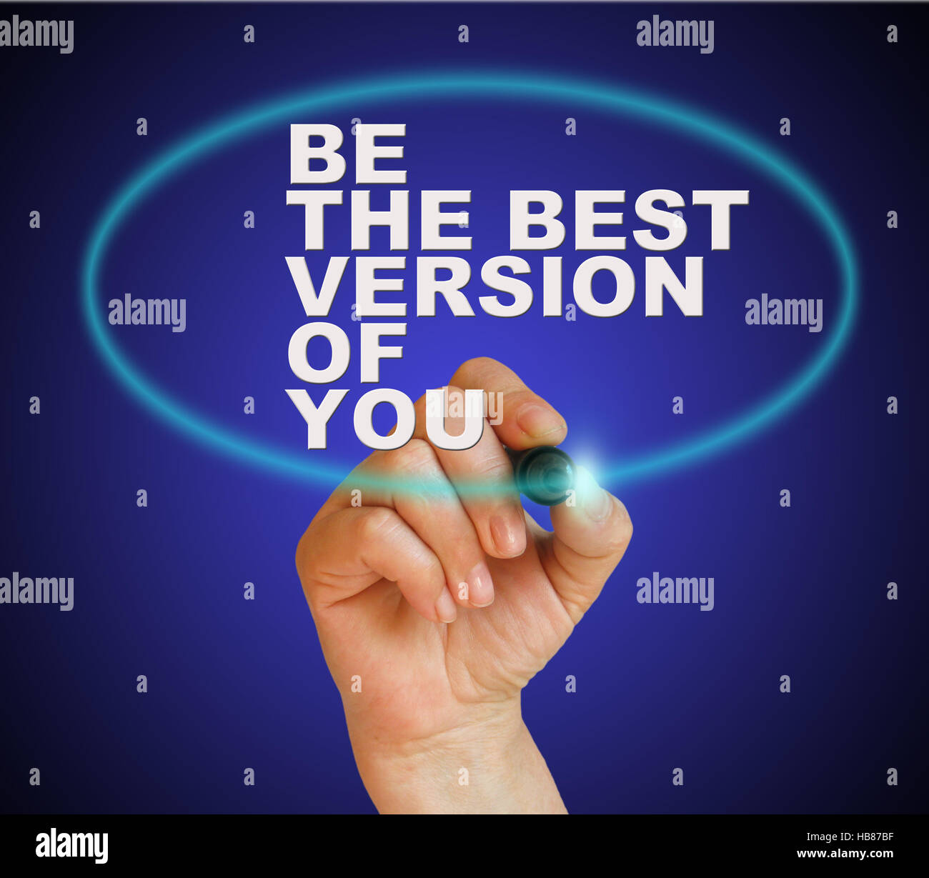 be the best version of you - Stock Image