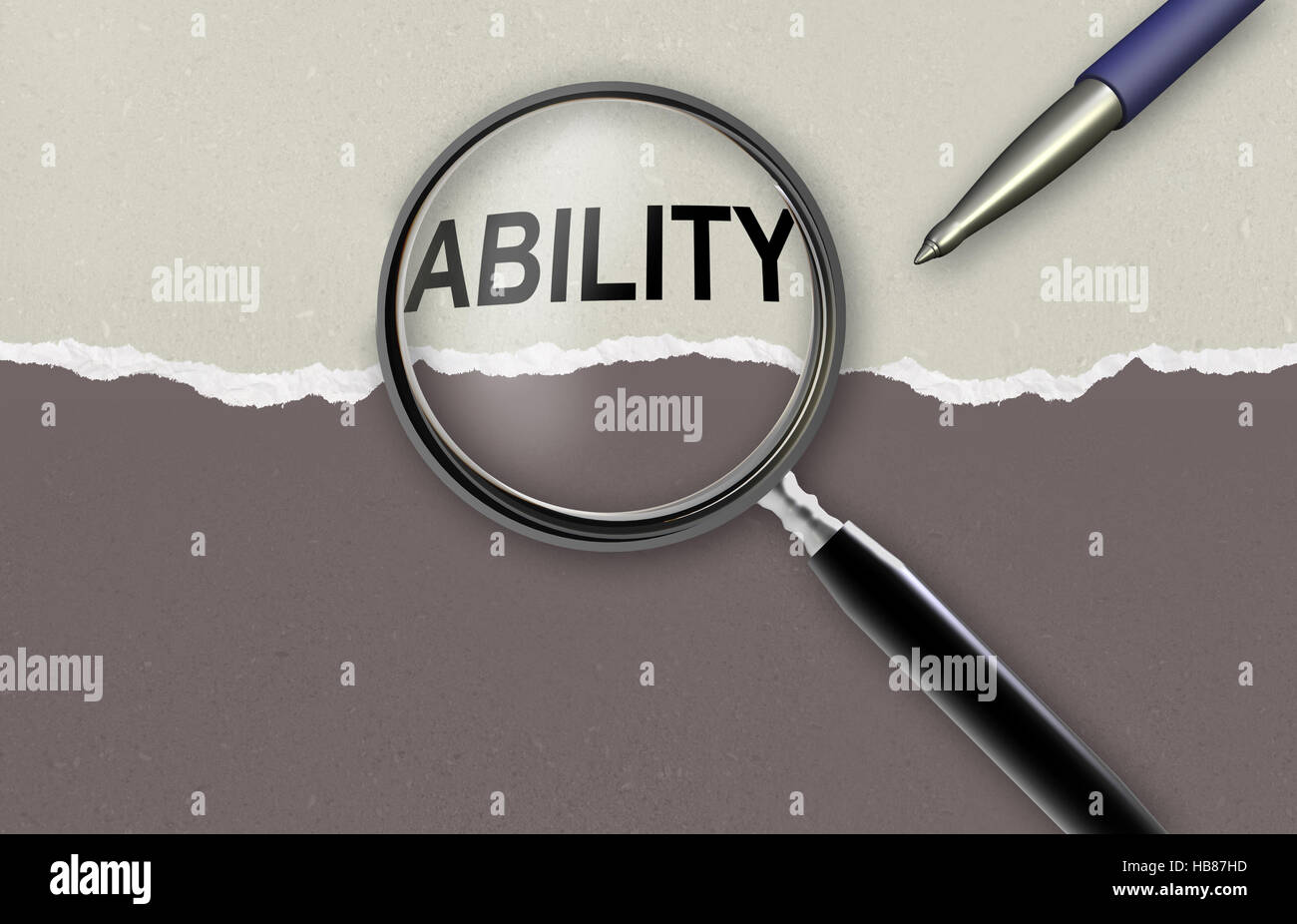 word  ability - Stock Image