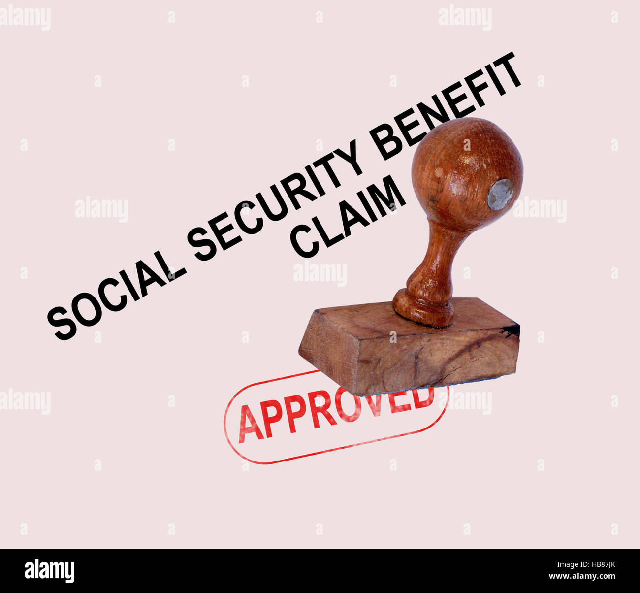 Social Security Claim Approved Stamp - Stock Image