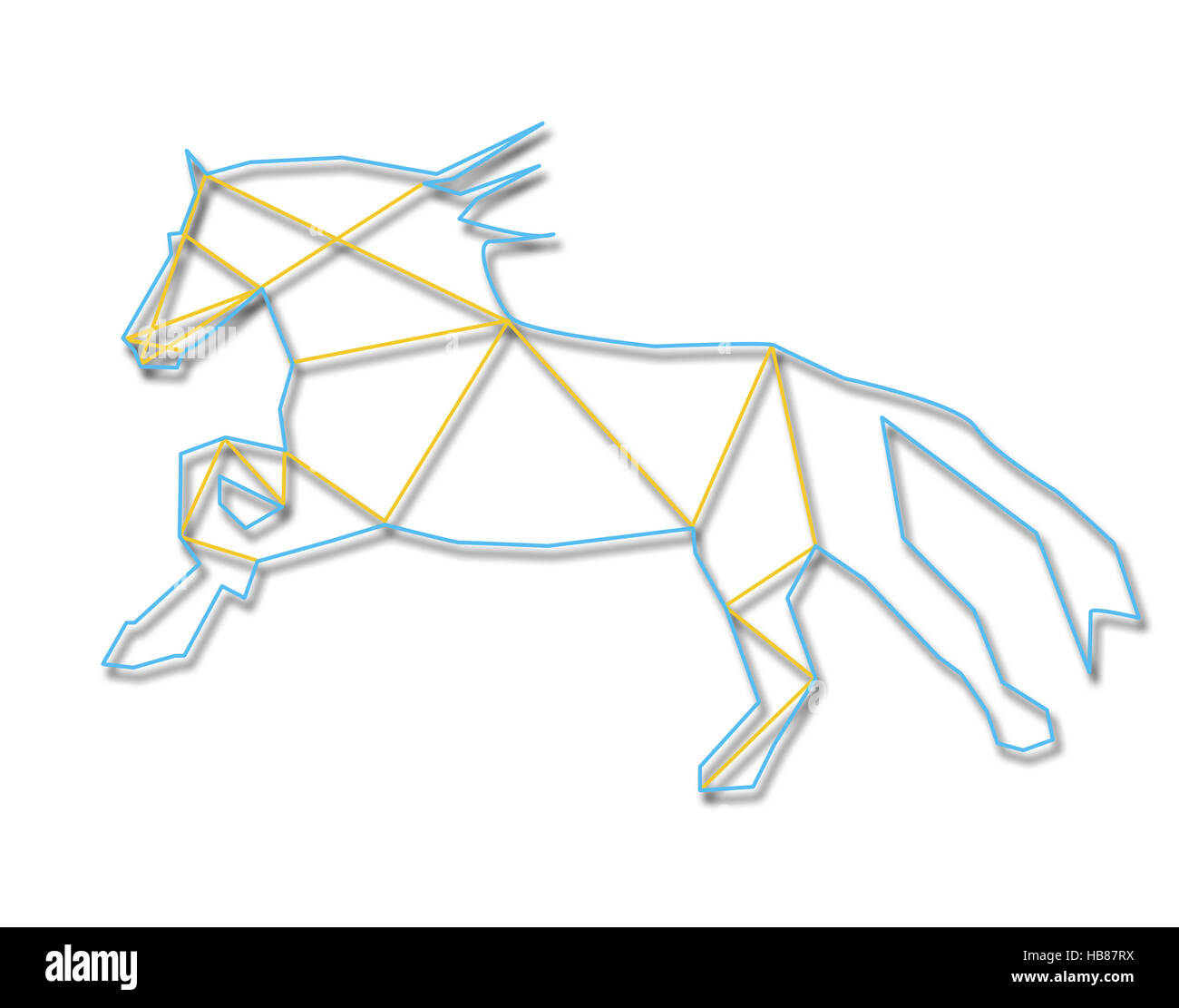 Line art horse - Stock Image