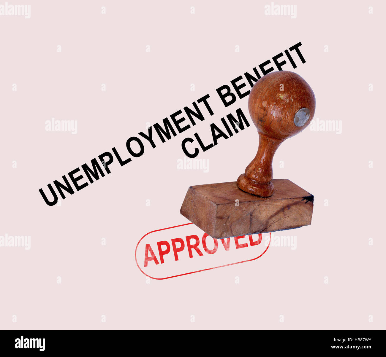 Unemployment Benefit Claim Approved - Stock Image
