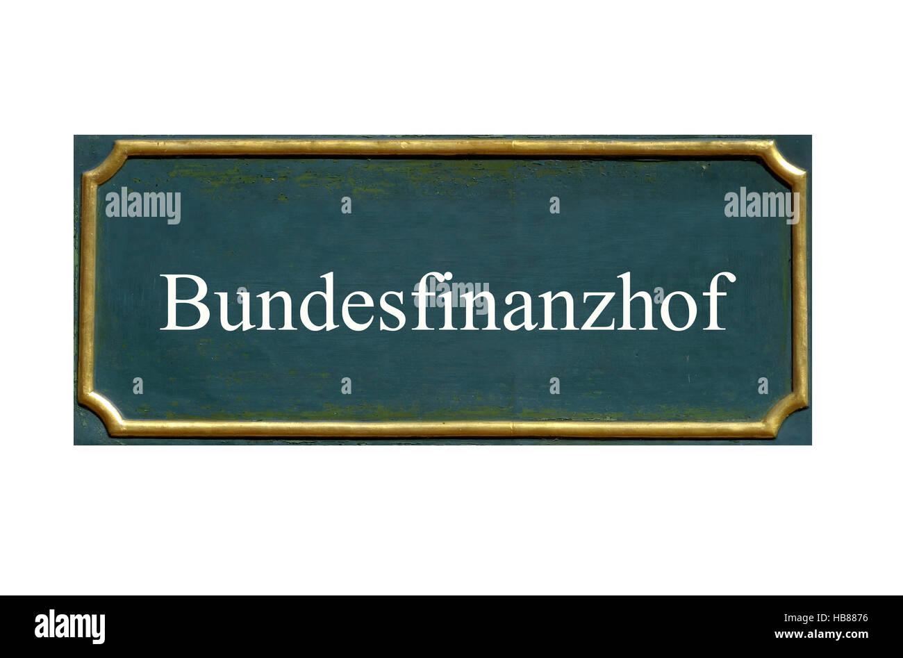 shield  bundesfinanzhof Stock Photo