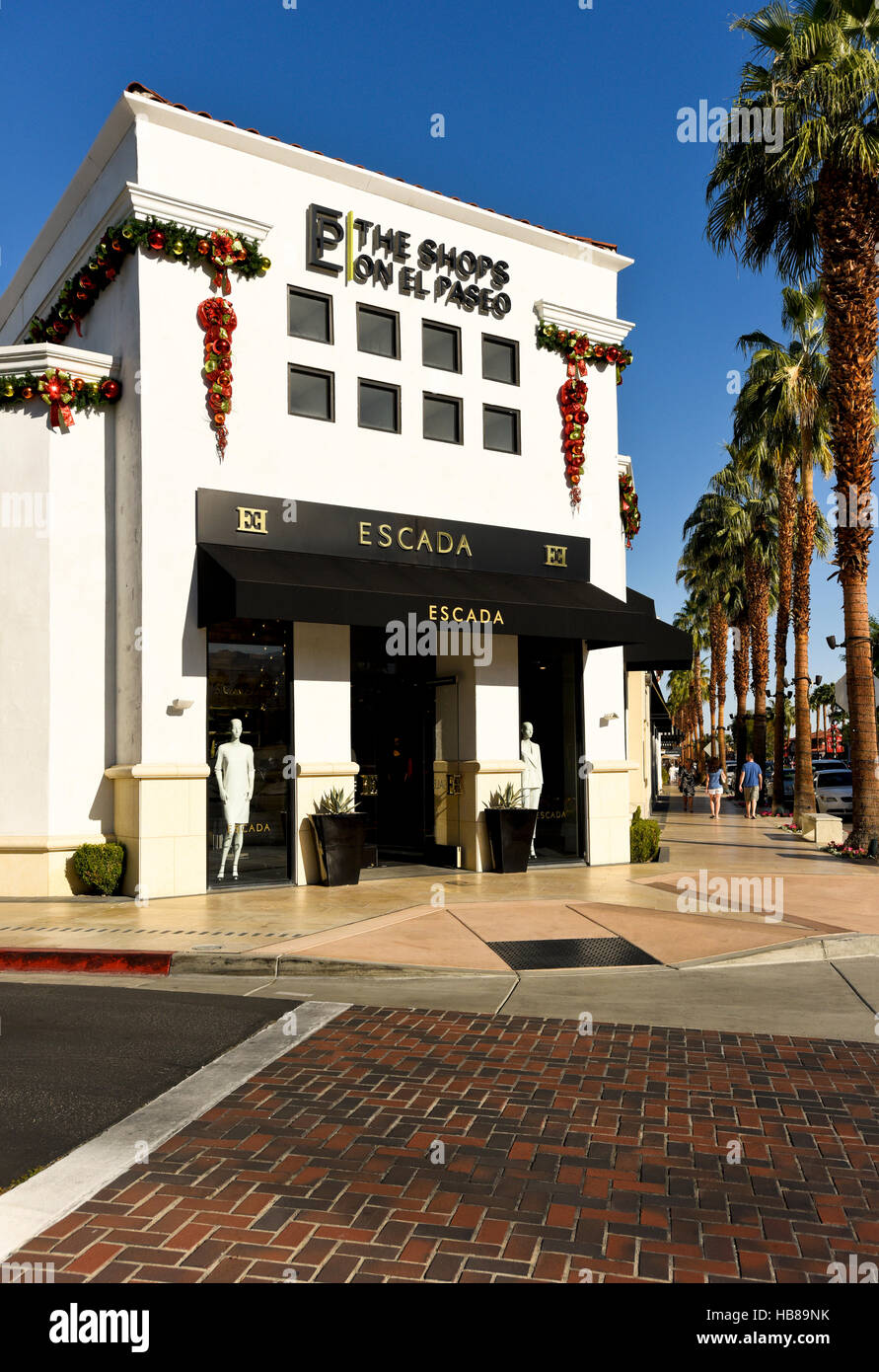 Escada an upscale store on El Paseo Drive in Palm Desert California - Stock Image