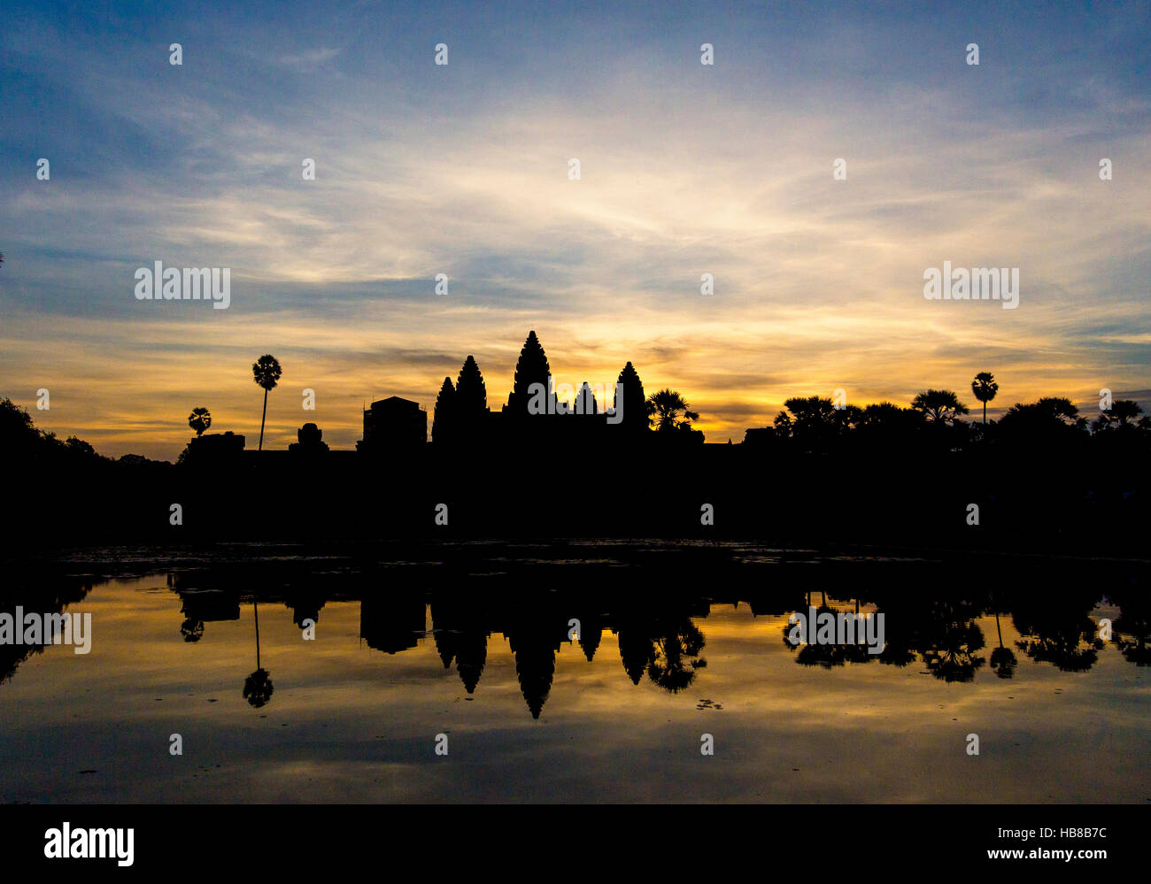 angkor wat cambodia reap siem at sunrise - Stock Image