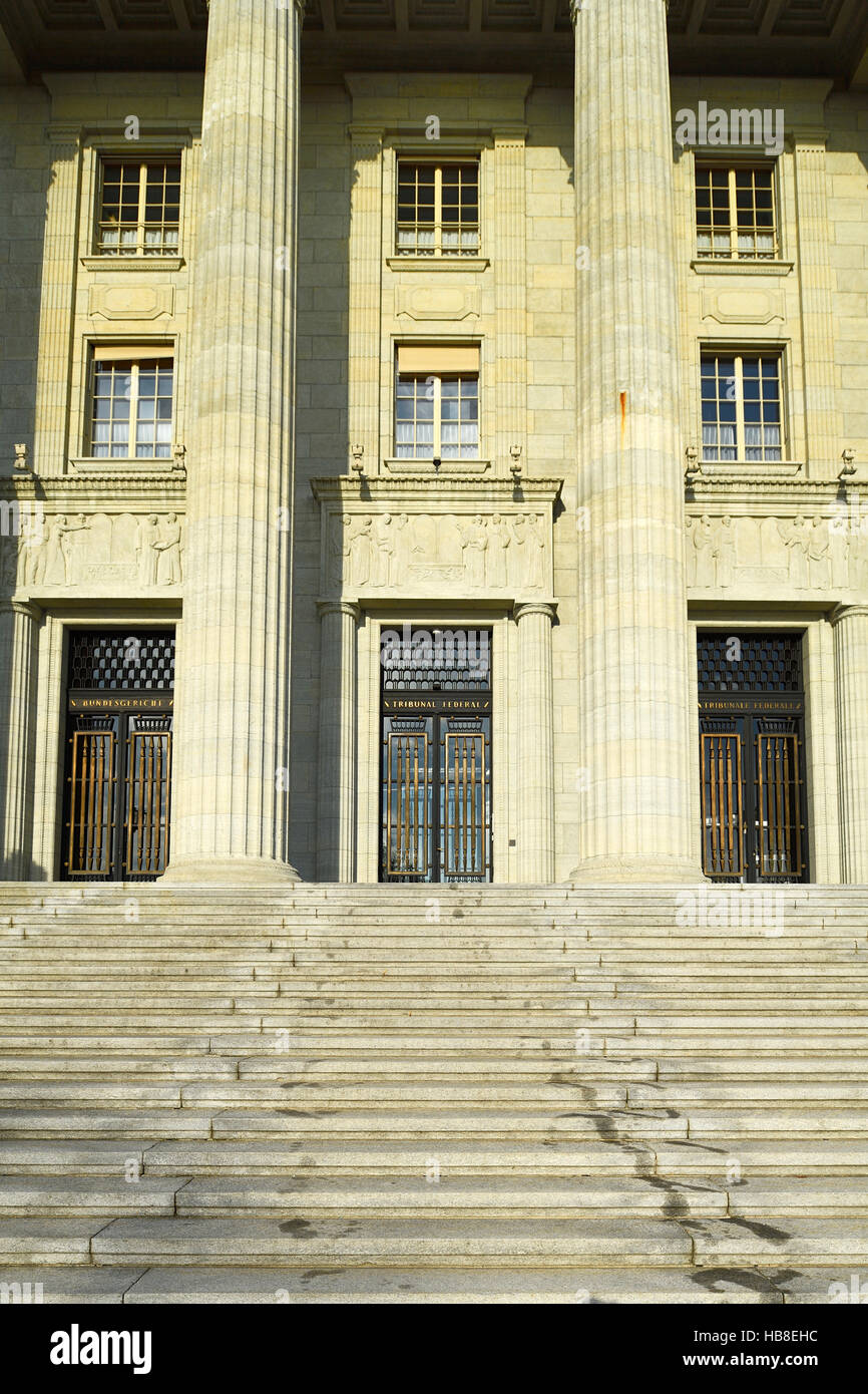 Federal Supreme Court of Switzerland, Lausanne, Vaud Canton, Switzerland - Stock Image
